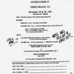 California North/South Intercourse IV Hash Pismo Beach (1991) Rego Flyer